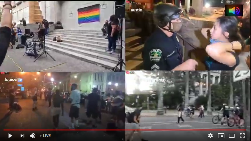 Live Streaming protests in Louisville Kentucky