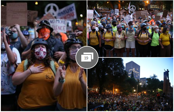 Live updates and reports on the Portland protests