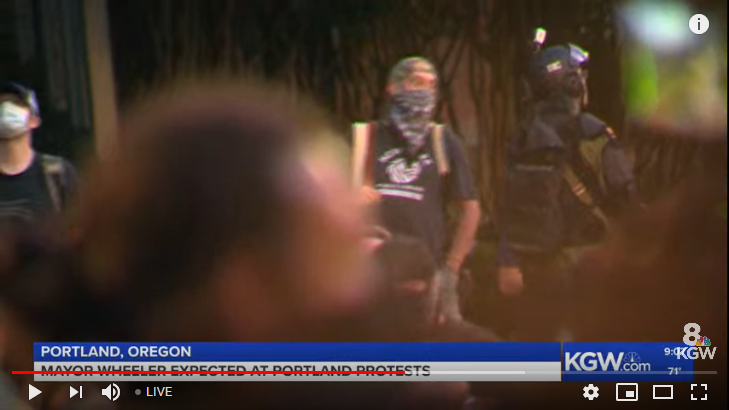 Portland Protest Live Streaming Coverage. Mayor expected.