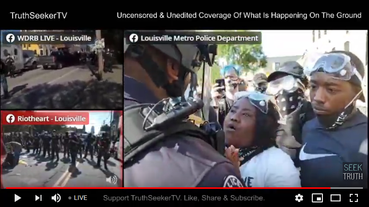 Louisville Protest Live Streaming