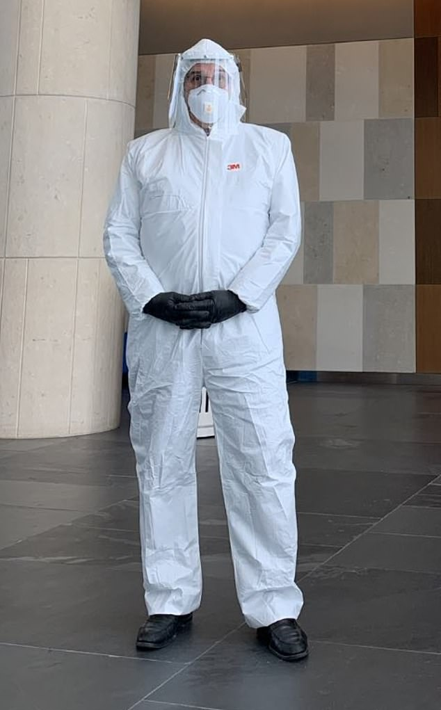 lawyer hazmat suit