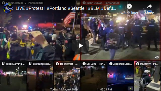Portland Protest Streaming Live from the streets in Oregon