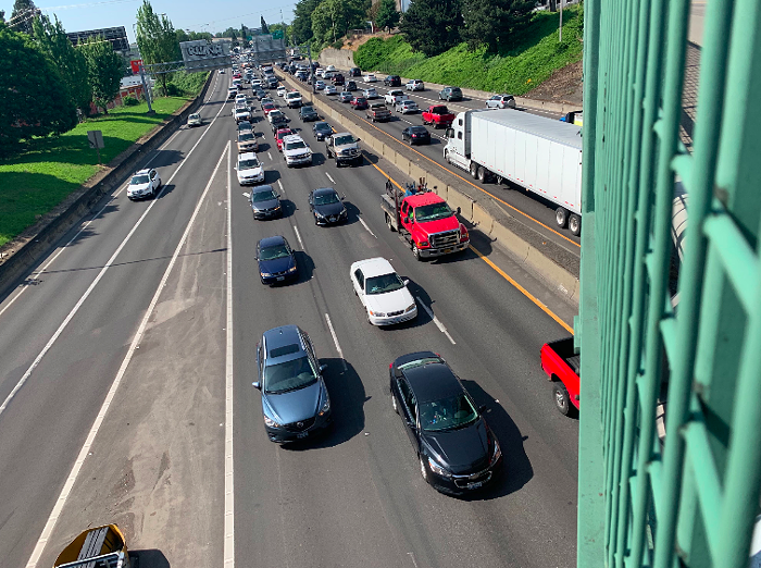 Advocacy groups sue and demand environmental impact report before I-5 expansion can continue.
