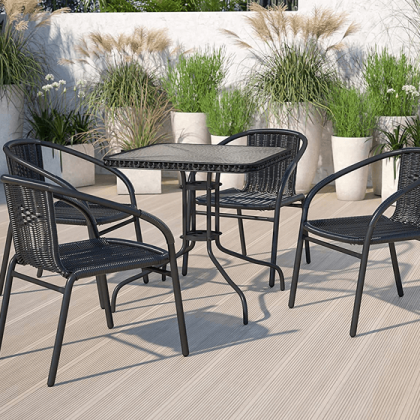 Flash-Furniture-4-Pack-Black-Rattan-Indoor-Outdoor-Restaurant-Stack-Chair