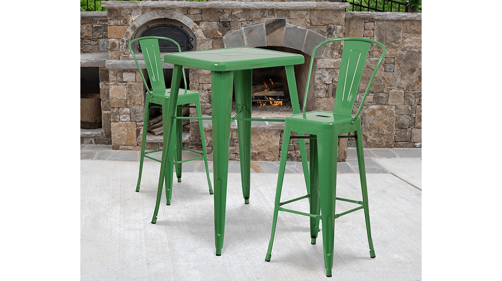 Commercial-Grade-23.75-Inch-Square-Green-Metal-Indoor-Outdoor-Bar-Table-Set.png