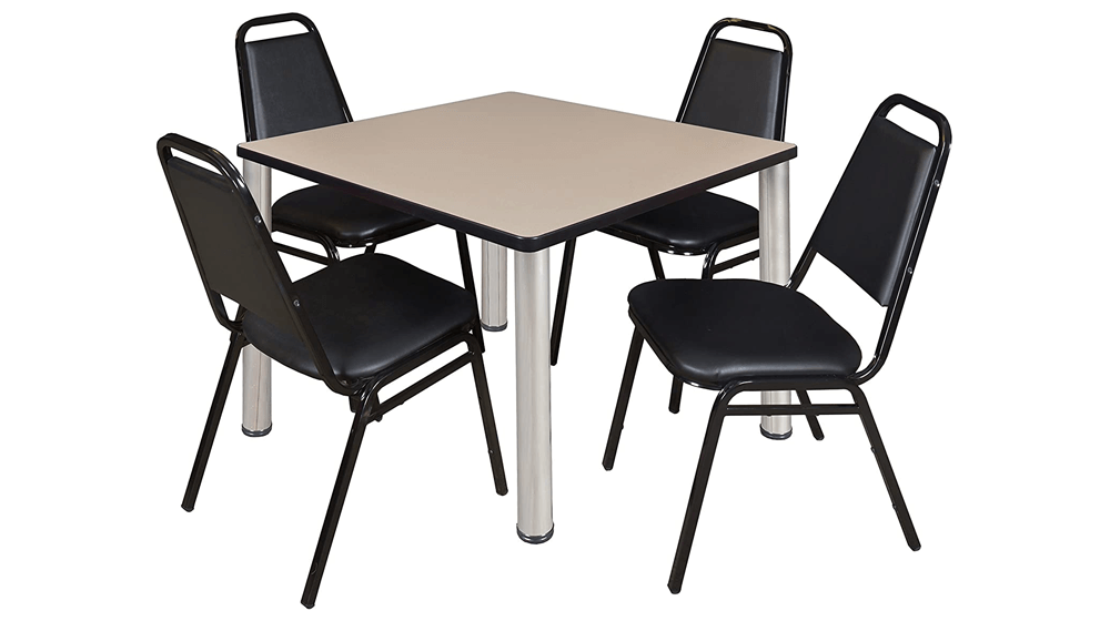 Kee-36-Inch-Square-Breakroom-Table-Beige-Chrome-4-Restaurant-Stack-Chairs-Black.png
