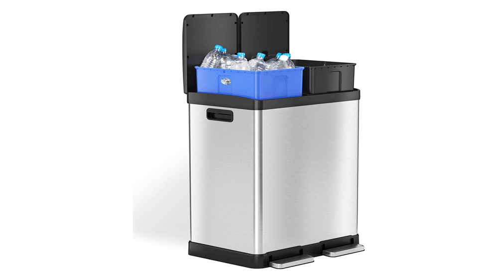 iTouchless-Kitchen-Dual-Step-Trash-Can-Recycle-Bin
