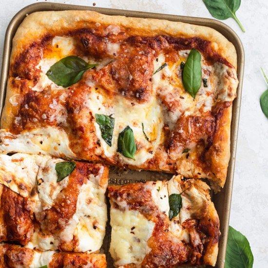No-Knead Focaccia Pizza