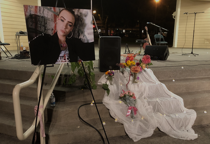 A vigil was held for Nikki Kuhnhausen in Vancouver on Thursday evening.