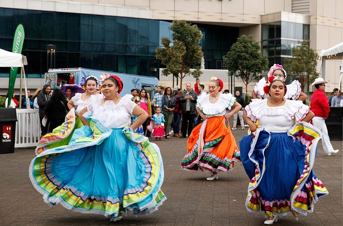 Portlands annual El Grito festival commemorates Mexican independence with a full day of festivities ranging from mariachi by local high school groups to an Aztec dance.