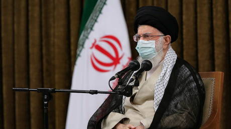 Iran's Supreme Leader Ayatollah Ali Khamenei attends a meeting with Iranian President Hassan Rouhani and his cabinet members, in Tehran, Iran July 28, 2021.