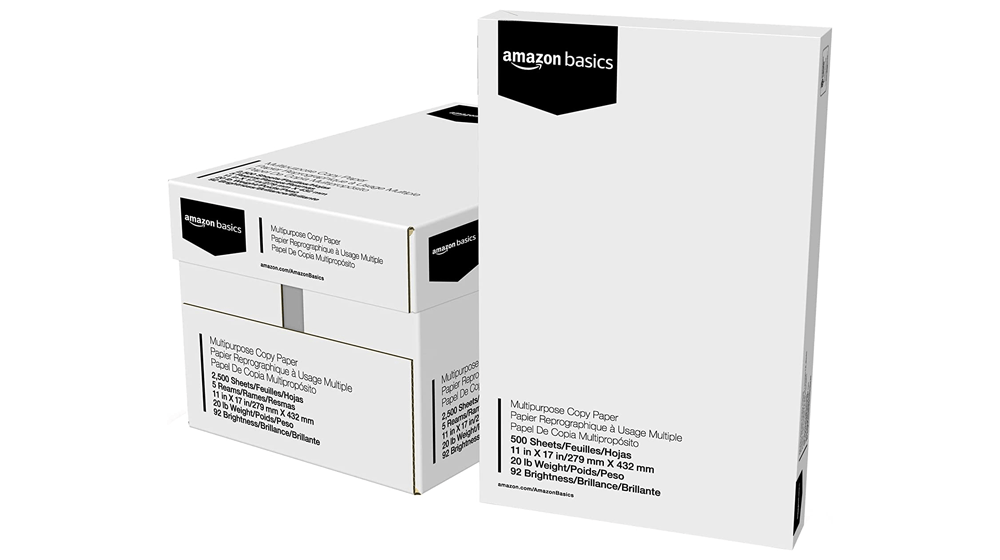 Amazon Basics 92 Bright Multipurpose Copy Paper - 11 x 17 Inches