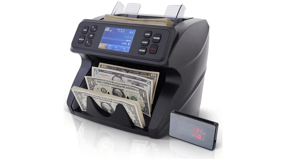 DETECK Spark Bank Grade Money Counter Machine Mixed Denomination