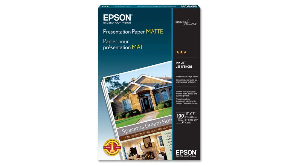 Epson Presentation Paper MATTE , 11x17 Inches, 100 Sheets